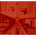 Swar Pendant 6721 - 28mm, Crystal Red Magma (001 REDM), 1pc