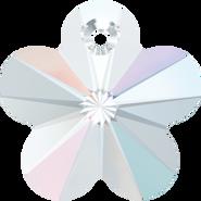 Swar Crystal Pendant 6744 - 14mm, Crystal Aurore Boreale (001 AB), 4pcs