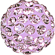 Swarovski Pave Ball 186001 - 10MM LIGHT AMETHYST 212, (12pcs)