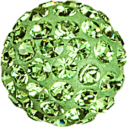 Swarovski Pave Ball 186001 - 10MM PERIDOT 214, (12pcs)