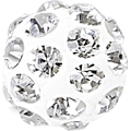 Swarovski Pave Ball 186001 - 10MM CRYSTAL 001, (12pcs)