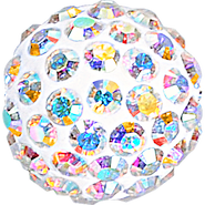 Swarovski Pave Ball 186001 - 10MM CRYSTAL AB (001AB), (12pcs)
