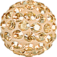 Swarovski Pave Ball 186001 - 10MM GOLDEN SHADOW 001GSHA, (12pcs)