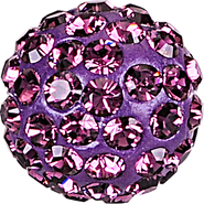 Swarovski Pave Ball 186001 - 10MM AMETHYST 204, (12pcs)