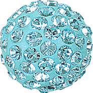 Swarovski Pave Ball 186001 - 10MM AQUAMARINE 202, (12pcs)