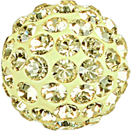 Swarovski Pave Ball 186001 - 10MM JONQUIL 213,(12pcs)
