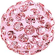 Swarovski Pave Ball 186001 - 10MM LIGHT ROSE 223, (12pcs)