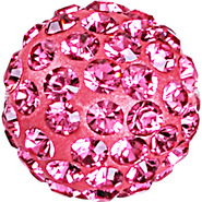 Swarovski Pave Ball 186001 - 10MM ROSE 209, (12pcs)