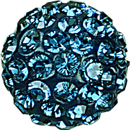 Swarovski Pave Ball 186001 - 10MM MONTANA 207, (12pcs)