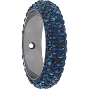 Swarovski Pave Ring 185001 - 16.5MM MONTANA (207) WITH 1 HOLE, (6pcs)