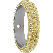 Swarovski Pave Ring 185001 - 16.5MM JONQUIL (213) WITH 2 HOLES, (6pcs)