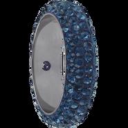 Swarovski Pave Ring 185001 - 16.5MM MONTANA (207) WITH 2 HOLES, (6pcs)