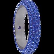 Swarovski Pave Ring 185001 - 18.5MM SAPPHIRE (206) WITH 2 HOLES, (6pcs)