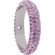Swarovski Pave Ring 185001 - 14.5MM LIGHT AMETHYST (212) WITH 1 HOLE, (6pcs)