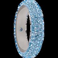 Swarovski Pave Ring 185001 - 14.5MM AQUAMARINE (202) WITH 2 HOLES, (6pcs)