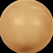 Swarovski Crystal Pearl 5811 - 10mm, Crystal Bright Gold Pearl (001 306), 100pcs
