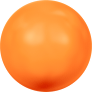 Swarovski Crystal Pearl 5811 - 16mm, Crystal Neon Orange Pearl (001 733), 25pcs