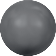 Swarovski Crystal Pearl 5818 - 12mm, Crystal Dark Grey Pearl (001 617), 100pcs