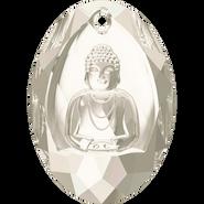 Swarovski Pendant 6871 - 28x19.8mm, Crystal Silver Shade (001 SSHA), 10pcs