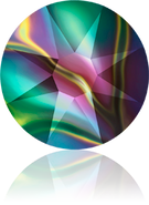 Swar Flatback 2088 - ss20, Crystal Rainbow Dark (001 RABDK), Foiled, 30pcs
