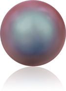 Swarovski Crystal Pearl 5817 MM 8,0 CRYSTAL IRIDESCENT RED PRL, Half-drilled, 250pcs