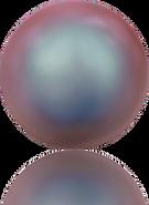 Swarovski Crystal Pearl 5818 MM 8,0 CRYSTAL IRIDESCENT RED PRL, Half-drilled, 250pcs