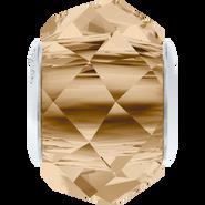 Swarovski 5948 MM 14,0 CRYSTAL GOL.SHADOW STEEL(12pcs)