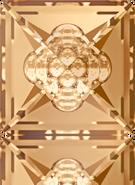Swarovski Fancy Stone 4481 MM 16,0 CRYSTAL GOL.SHADOW F(48pcs)