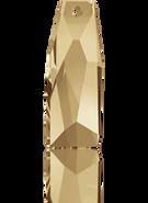 Swarovski Pendant 6019/G MM 35,0 CRYSTAL GOLSHAD'V'(8pcs)