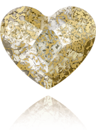 Swarovski Flat Back 2808 MM 10,0 CRYSTAL GOLD-PAT F(144pcs)