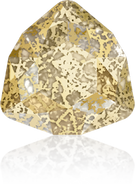 Swarovski Fancy Stone 4706 MM 12,0 CRYSTAL GOLD-PAT F(72pcs)