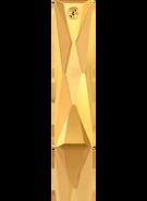 Swar Pendant 6465 - 13.5x6mm, Crystal Metalic Sunshine (001 METSH), 2pcs