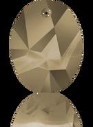 Swarovski Pendant 6911 MM 26,0 CRYSTAL METLGTGOLD(20pcs)