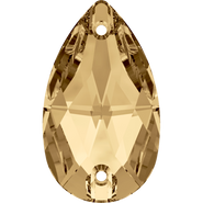 Swarovski Sew-on 3230 - 12x7mm, Crystal Golden Shadow (001 GSHA) Foiled, 4pcs