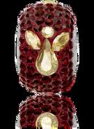Swar Pave Beads 181933 - Xmas, Angel, 15mm, Siam & GHSA, 1pcs