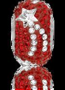 Swar Pave Beads 181922 - Xmas, Star, 15mm, Siam & GSHA, 1pcs