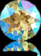Swarovski Round Stone 1088 - ss39 Black Diamond Shimmer (215 SHIM) Foiled, 144pcs