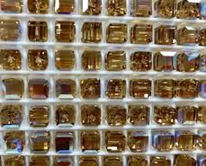 Swar Crystal Bead 5601 - 6mm, Light Colorado Topaz AB (246), 6pcs