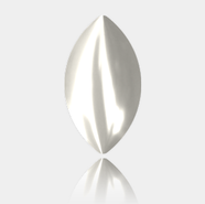 8*4.5mm, Crystal White Pearl