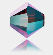 4mm, Crystal Siam Shimmer 2X