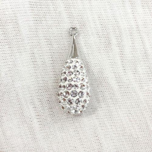 167563 - 20mm, Crystal (001), (Rhodium Plated)
