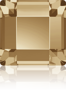 Swarovski Flatback 2400 - 4m, Crystal Golden Shadow (001 GSHA), Foiled, 36pcs