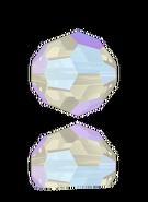 Swarovski Bead 5000 - 8m, Light Sapphire Shimmer (211 SHIM), 12pcs