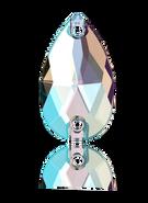 Swarovski Sew-on 3230 - 18x10.5m, Crystal Shimmer (001 SHIM) Foiled, 2pcs