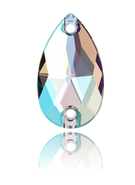 Swarovski Sew-on 3230 - 28x17m,  Crystal Shimmer (001 SHIM) Foiled, 1pc