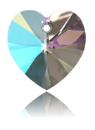 Swar Pendant 6228 - 14.4x14mm, Crystal Shimmer (001 SHIM), 2pcs