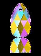 Swarovski Pendant 6106 - 22m, Light Topaz Shimmer (226 SHIM), 2pcs