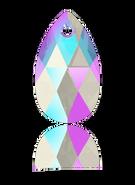 Swarovski Pendant 6106 - 16m, Light Sapphire Shimmer (211 SHIM), 2pcs