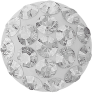 Cabochon PAVE 86601, 6mm, Crystal (001), White (01)