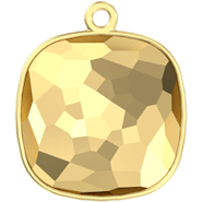 Swarovksi Setting 4483/J (GLUE-IN) - 14mm, Gold Plated, 1TC (RING ON TOP, closed)